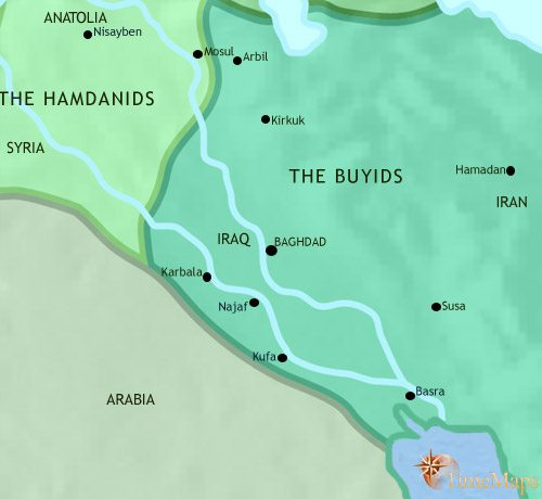 Map of Iraq at 979AD
