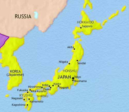 Map of Japan at 1914AD  TimeMaps