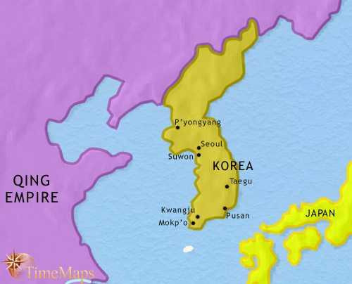 Map of Korea at 1837CE