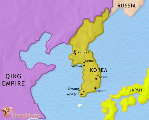 Map of Korea at 1871CE