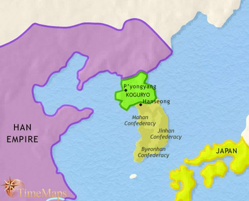 Map of Korea at 200CE