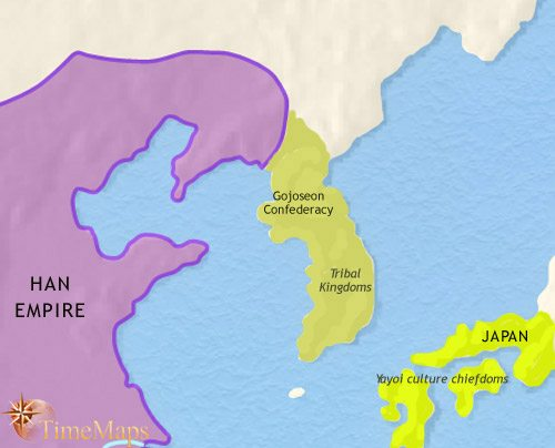 Map of Korea at 200BCE