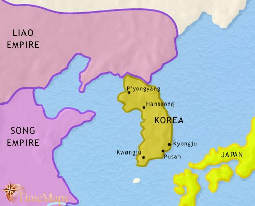 Map of Korea at 979CE