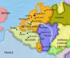 Map of The Low Countries at 1837CE