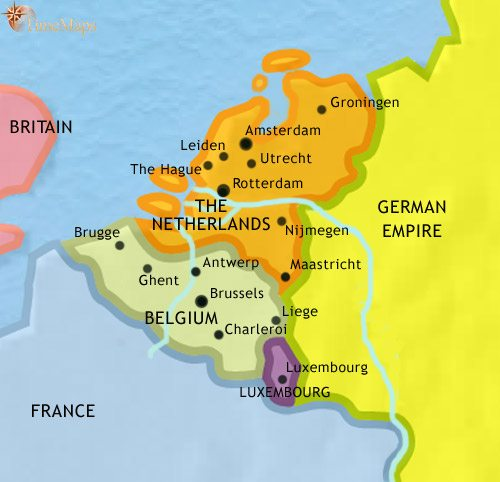Map Of The Low Countries At AD TimeMaps - Countries map