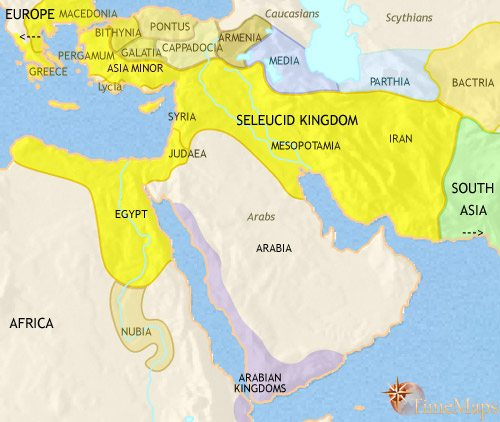 Map of Middle East at 200BCE