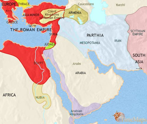 Map of Middle East at 30BCE