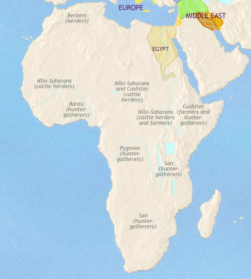 Map of Africa at 1500BC