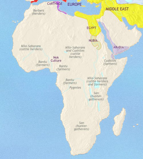 Map of Africa at 200BC
