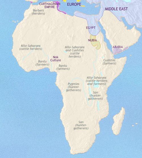 Map of Africa at 500BC