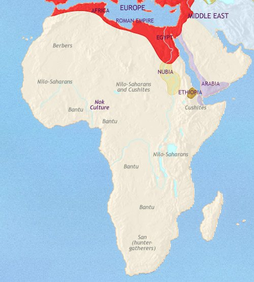 Map of Africa at 200AD