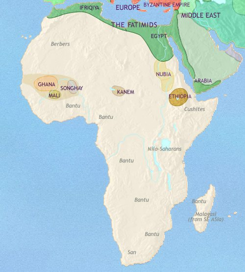 Map of Africa at 979AD