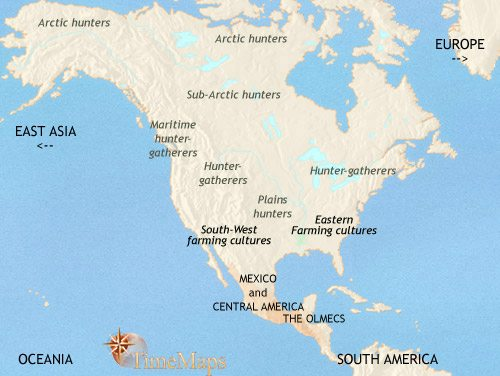 Map of North America at 500BCE