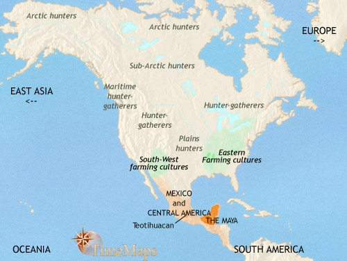 Map of North America at 500CE