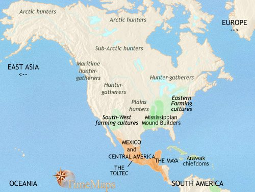 Map of North America at 979CE