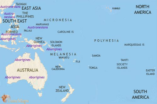 Map of Oceania at 1500BCE