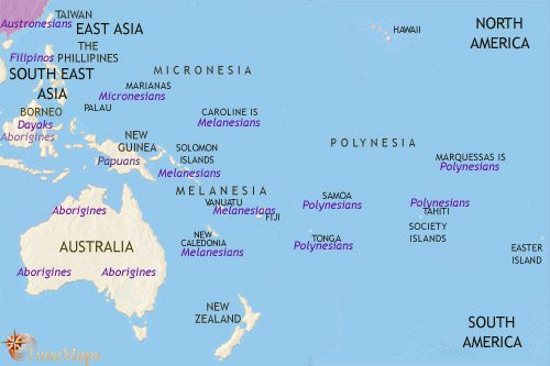 Map of Oceania at 30BCE