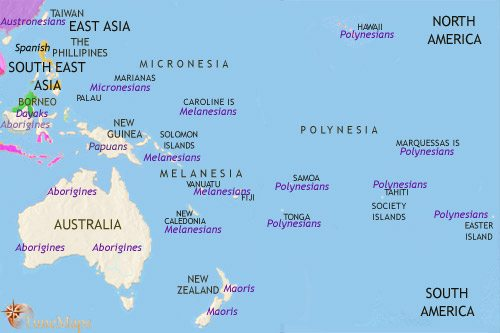 Map of Oceania at 1648CE