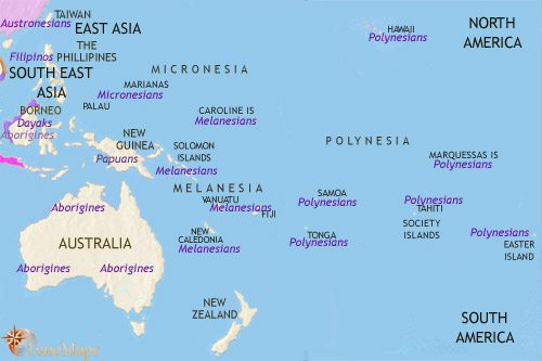Map of Oceania at 750CE