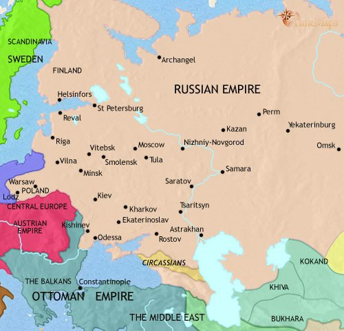 Map Of Russia At AD TimeMaps - Russia on map