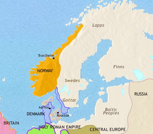 Map Of Scandinavia At AD TimeMaps - Norway map world