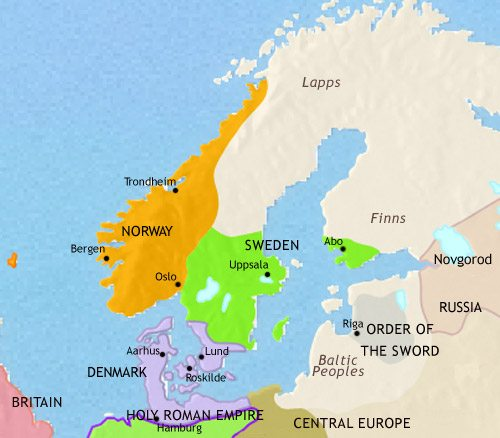 Map Of Scandinavia At AD TimeMaps - Europe map scandinavia