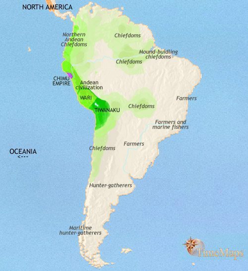 Map of South America at 979CE