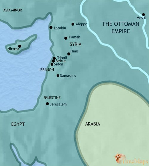 Map of Syria at 1648AD