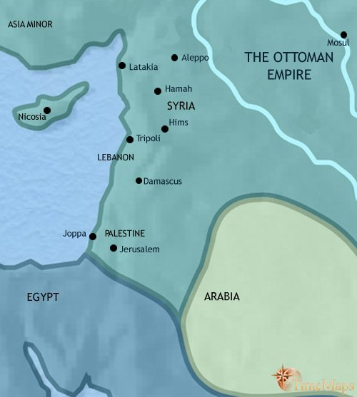 Map of Syria at 1837AD