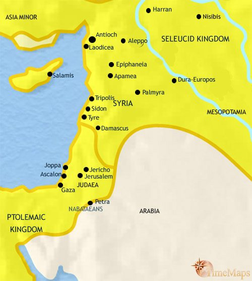 Map of Syria at 200BC
