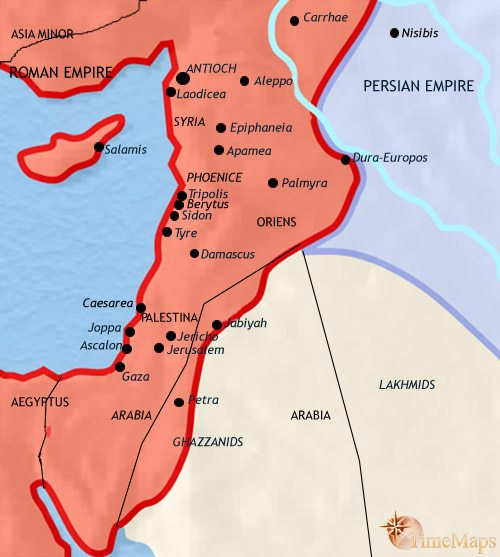 Map of Syria at 500AD