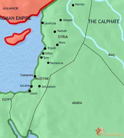 Map of Syria at 750AD
