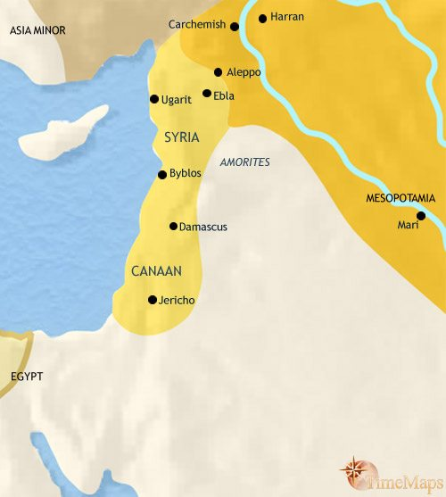 Map of Syria at 2500BC