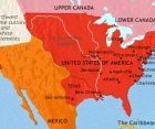 Map of The USA at 1837CE
