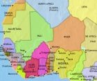 Map of West Africa at 1960AD