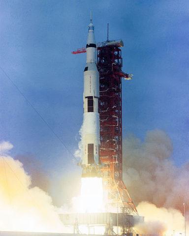 The launch-Apollo 10-On Saturn V AS