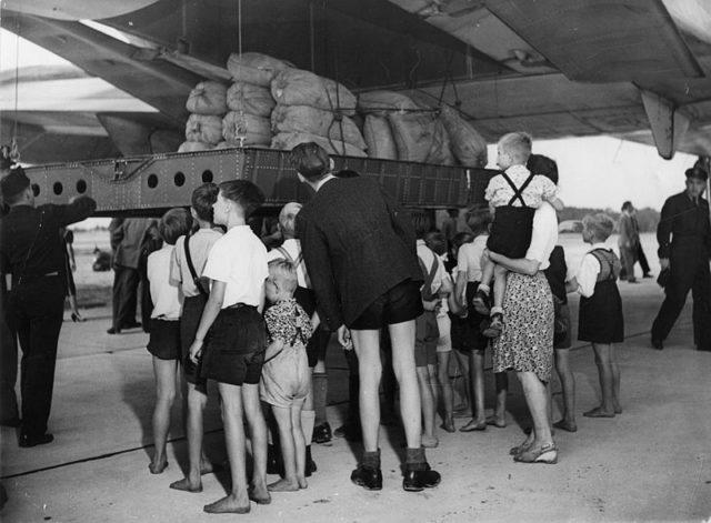 AC-74 Globemaster-plane-at-Gatow airfield